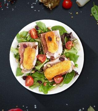 recette salade de reblochon pané