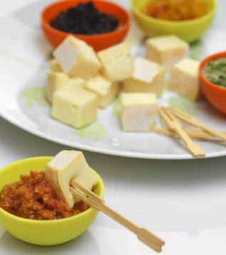 picorettes de Reblochon de Savoie et ses sauces